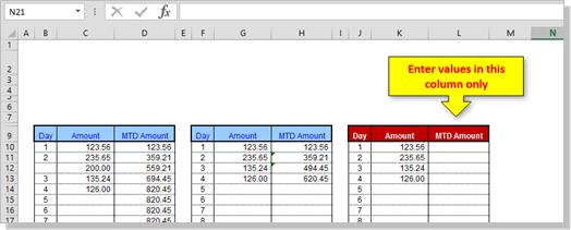 Excel Tip
